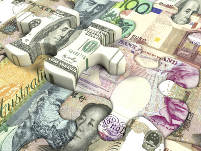 Concept background for exchange rate of world currency